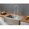 RVC1431 Stainless Steel Kitchen Sink and Chrome Faucet Set