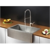 Ruvati RVC1432 Stainless Steel Kitchen Sink and Stainless Steel Faucet Set