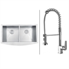 Ruvati RVC1461 Stainless Steel Kitchen Sink and Chrome Faucet Set
