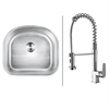 Ruvati RVC1471 Stainless Steel Kitchen Sink and Chrome Faucet Set