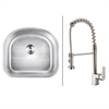 Ruvati RVC1472 Stainless Steel Kitchen Sink and Stainless Steel Faucet Set
