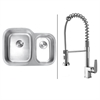 RVC1501 Stainless Steel Kitchen Sink and Chrome Faucet Set