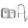 Ruvati RVC1502 Stainless Steel Kitchen Sink and Stainless Steel Faucet Set