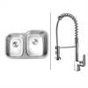 RVC1511 Stainless Steel Kitchen Sink and Chrome Faucet Set