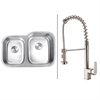 Ruvati RVC1512 Stainless Steel Kitchen Sink and Stainless Steel Faucet Set