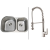 Ruvati RVC1532 Stainless Steel Kitchen Sink and Stainless Steel Faucet Set