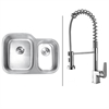 RVC1541 Stainless Steel Kitchen Sink and Chrome Faucet Set