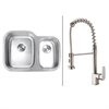 RVC1542 Stainless Steel Kitchen Sink and Stainless Steel Faucet Set