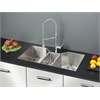 Ruvati RVC1571 Stainless Steel Kitchen Sink and Chrome Faucet Set