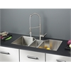 Ruvati RVC1572 Stainless Steel Kitchen Sink and Stainless Steel Faucet Set