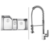 Ruvati RVC1581 Stainless Steel Kitchen Sink and Chrome Faucet Set