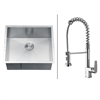 RVC1591 Stainless Steel Kitchen Sink and Chrome Faucet Set