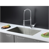 RVC1601 Stainless Steel Kitchen Sink and Chrome Faucet Set