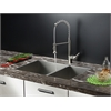 Ruvati RVC1612 Stainless Steel Kitchen Sink and Stainless Steel Faucet Set