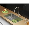 Ruvati RVC2303 Stainless Steel Kitchen Sink and Stainless Steel Faucet Set