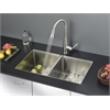Ruvati RVC2310 Stainless Steel Kitchen Sink and Stainless Steel Faucet Set