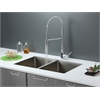 Ruvati RVC2311 Stainless Steel Kitchen Sink and Chrome Faucet Set