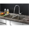 Ruvati RVC2312 Stainless Steel Kitchen Sink and Chrome Faucet Set