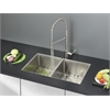 Ruvati RVC2317 Stainless Steel Kitchen Sink and Stainless Steel Faucet Set