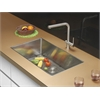 Ruvati RVC2325 Stainless Steel Kitchen Sink and Stainless Steel Faucet Set