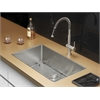 Ruvati RVC2329 Stainless Steel Kitchen Sink and Stainless Steel Faucet Set