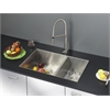 Ruvati RVC2334 Stainless Steel Kitchen Sink and Stainless Steel Faucet Set