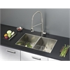 Ruvati RVC2338 Stainless Steel Kitchen Sink and Stainless Steel Faucet Set