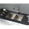 Ruvati RVC2339 Stainless Steel Kitchen Sink and Stainless Steel Faucet Set