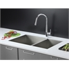 RVC2342 Stainless Steel Kitchen Sink and Chrome Faucet Set