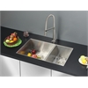 Ruvati RVC2344 Stainless Steel Kitchen Sink and Stainless Steel Faucet Set