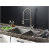 Ruvati RVC2348 Stainless Steel Kitchen Sink and Stainless Steel Faucet Set
