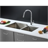 RVC2352 Stainless Steel Kitchen Sink and Chrome Faucet Set