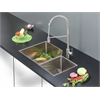 Ruvati RVC2357 Stainless Steel Kitchen Sink and Stainless Steel Faucet Set