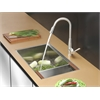 Ruvati RVC2370 Stainless Steel Kitchen Sink and Stainless Steel Faucet Set