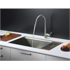 Ruvati RVC2374 Stainless Steel Kitchen Sink and Stainless Steel Faucet Set