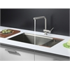 Ruvati RVC2375 Stainless Steel Kitchen Sink and Stainless Steel Faucet Set