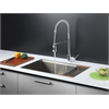 RVC2376 Stainless Steel Kitchen Sink and Chrome Faucet Set