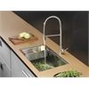 Ruvati RVC2377 Stainless Steel Kitchen Sink and Stainless Steel Faucet Set