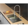Ruvati RVC2378 Stainless Steel Kitchen Sink and Stainless Steel Faucet Set