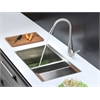 RVC2380 Stainless Steel Kitchen Sink and Stainless Steel Faucet Set