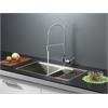 RVC2381 Stainless Steel Kitchen Sink and Chrome Faucet Set