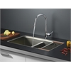 RVC2382 Stainless Steel Kitchen Sink and Chrome Faucet Set