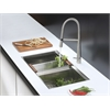 RVC2384 Stainless Steel Kitchen Sink and Stainless Steel Faucet Set