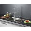 RVC2386 Stainless Steel Kitchen Sink and Chrome Faucet Set
