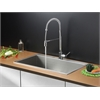 Ruvati RVC2391 Stainless Steel Kitchen Sink and Chrome Faucet Set