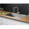 Ruvati RVC2395 Stainless Steel Kitchen Sink and Stainless Steel Faucet Set