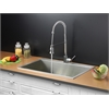 Ruvati RVC2396 Stainless Steel Kitchen Sink and Chrome Faucet Set