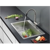 Ruvati RVC2399 Stainless Steel Kitchen Sink and Stainless Steel Faucet Set