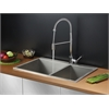 Ruvati RVC2401 Stainless Steel Kitchen Sink and Chrome Faucet Set