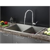 RVC2402 Stainless Steel Kitchen Sink and Chrome Faucet Set